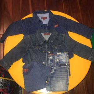 7 for Mankind jackets,jeans and shirt 12month